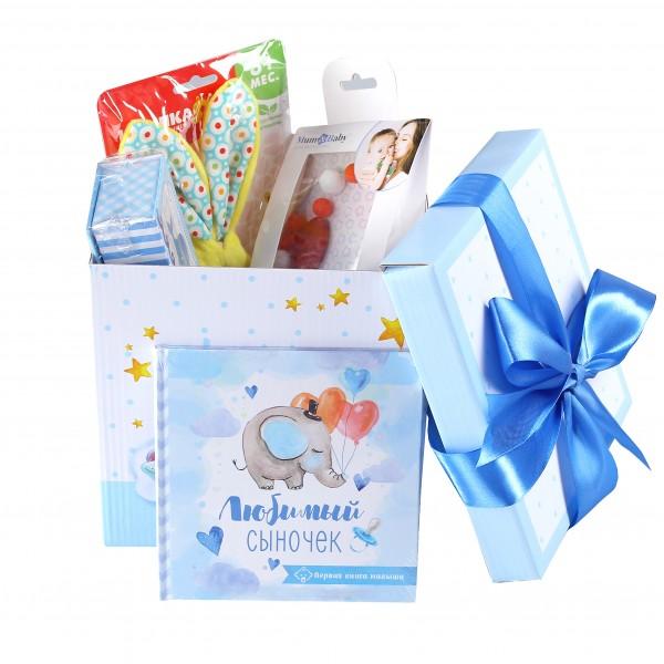 Набор подарков lollybox newborn MIDI boy, 8 предметов