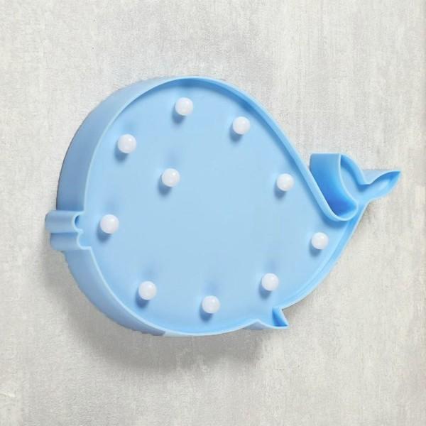 Ночник для детской Кит blue