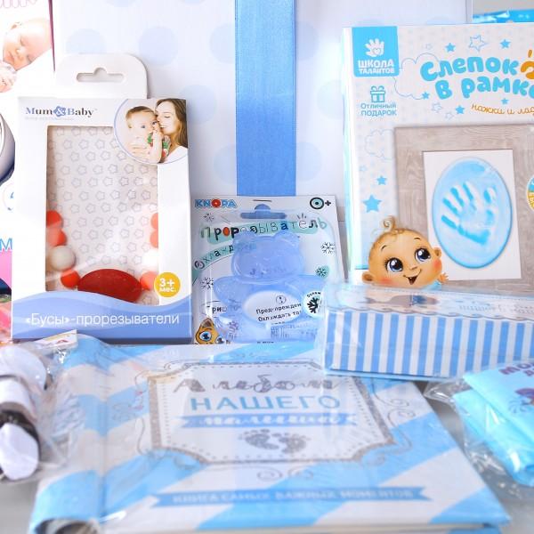 Набор подарков lollybox newborn MAXI boy, 15 предметов