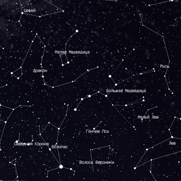 Карта звездного неба blue