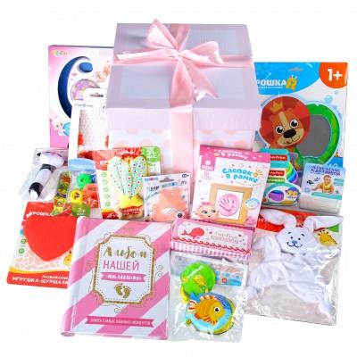 Набор подарков lollybox newborn MAXI girl, 15 предметов