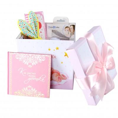 Набор подарков lollybox newborn MIDI girl, 8 предметов