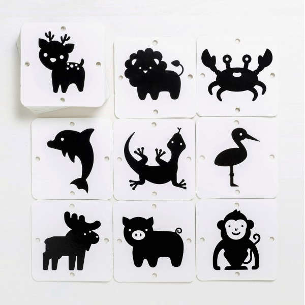 Чёрно-белые картинки Мир животных