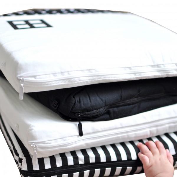 Бампер для кроватки Домики