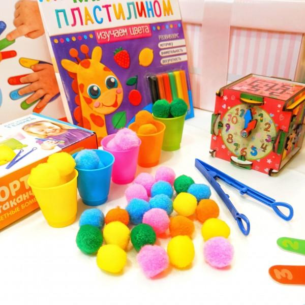 Набор развивающих игрушек lollybox GENIUS girl 1 год