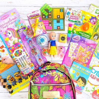 Рюкзачок с играми для девочек lollybox travel girl 3-7 лет