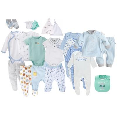 Комплект одежды lollybox newborn LUXE boy, 20 предметов
