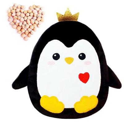 Игрушка-грелка с вишневыми косточками Пингвин