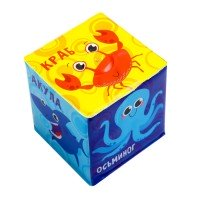 Кубик для игры в ванной с пищалкой